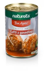 Natureta, ufti z govedino
